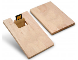 Pen drive cartão em bambu