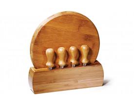 Conjunto Queijo Bambu Córdoba - 6 Pçs