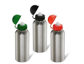 Squeeze em aço inox com tampa colorida - 600 Ml