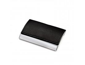Porta Cartão metal e couro