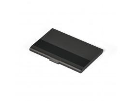Porta-Cartão Em Alumínio Preto