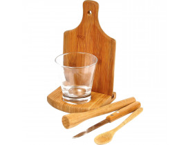 Kit Caipirinha em Bambu - 0,35 L - 6 Pçs