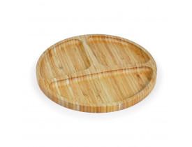 Petisqueira bambu 3 divisões
