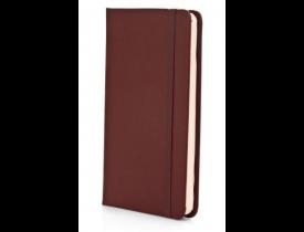 Caderneta Para Anotações Em Courino Marrom - 80 Folhas